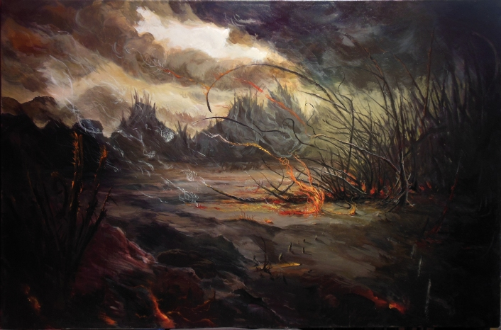 DF_venereal dawn painting.jpg 'Venereal Dawn' oil painting 150x100cm, cover for the eponymous Dark Fortress album