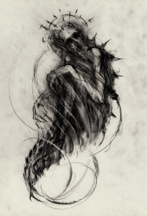 DF_venereal_dawn_chrysalis.jpg 'Chrysalis' Conté drawing on paper 297x420mm